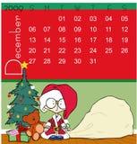 Kalender - Dezember 2009 Lizenzfreies Stockbild