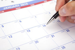 Kalender die 2010 plant Royalty-vrije Stock Afbeelding