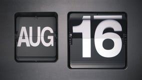 Kalender die Augustus tonen stock footage