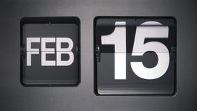 Kalender die Februari tonen stock video