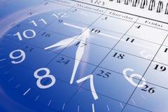 Kalender en Klok Royalty-vrije Stock Fotografie