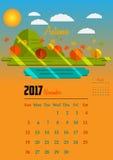 Kalender för 2017 år Fotografering för Bildbyråer