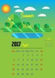 Kalender för 2017 år Arkivfoto