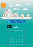 Kalender för 2017 år Royaltyfri Fotografi