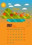 Kalender för 2017 år Royaltyfria Foton