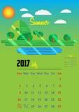 Kalender för 2017 år Royaltyfri Bild