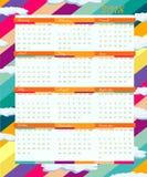 Kalender för 2018 år Arkivfoton
