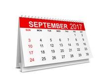 Kalender för 2017 år royaltyfri illustrationer