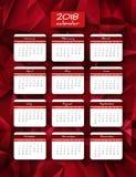 kalender för 2018 år vektorlodlinje Arkivbild