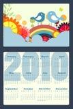 Kalender för 2010 Fotografering för Bildbyråer