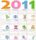 Kalender för 2011 vektor illustrationer