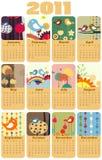 Kalender för 2011 Fotografering för Bildbyråer