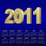 kalender för 2011 blue Royaltyfri Bild