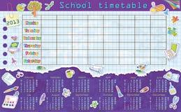 Kalender för 2013. Veckastarter på Måndag. Ark in vektor illustrationer