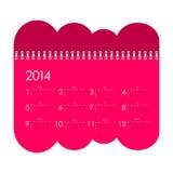 Kalender för 2014 Arkivbild