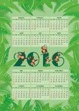 Kalender för 2016 Arkivbilder