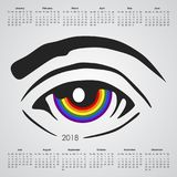 Kalender för 2018 royaltyfri illustrationer