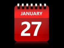 kalender för 3d 27 januari royaltyfri illustrationer