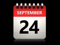 kalender för 3d 24 september Royaltyfri Foto