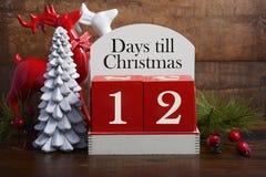 Kalender för dagkassalådajul Arkivbild