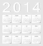 Kalender för europé 2014 vektor illustrationer