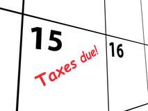Kalender för förfallna skatter Royaltyfri Fotografi