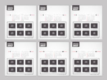 Kalender för nytt år 2017 Stock Illustrationer