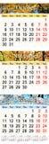 Kalender för Oktober November och December 2017 med kulöra bilder Royaltyfri Bild