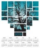 Kalender för träd en 2018 och natur Arkivbilder