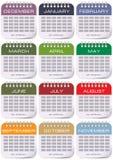 Kalender för varje månad royaltyfri illustrationer