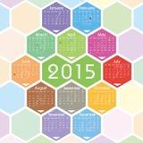 Kalender för vektor 2015 Royaltyfri Foto