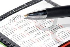 Kalender für 2008 und Feder Lizenzfreie Stockbilder