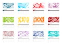 Kalender für 2012 Lizenzfreie Stockfotografie