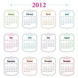 Kalender für 2012 Stockbilder