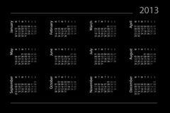 Kalender für 2013 Stock Abbildung