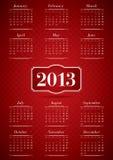 Kalender für 2013 Lizenzfreies Stockfoto