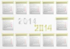 Kalender für 2014 lizenzfreie abbildung
