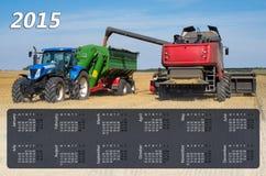 Kalender für 2015 Lizenzfreie Stockfotos