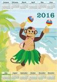 Kalender für 2016 Lizenzfreie Stockfotos