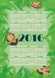 Kalender für 2016 Lizenzfreies Stockfoto
