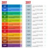 Kalender für 2017 Lizenzfreies Stockfoto