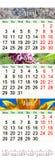 Kalender für April-Juni 2017 mit natürlichen Bildern Stockfotografie