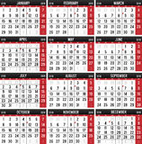 Kalender für das Jahr von 2018 stock abbildung