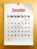 Kalender für Dezember 2017-Nahaufnahme Lizenzfreie Stockfotografie