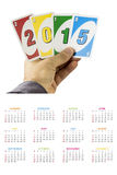 Kalender 2015 für die US Stockfotos