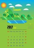 Kalender für 2017-jähriges Lizenzfreies Stockbild