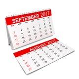 Kalender für 2017-jähriges Stockbilder