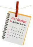 Kalender für Juli 2017-Nahaufnahme Stockbild