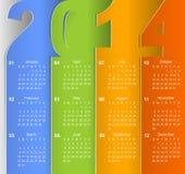 Kalender 2014 för rengöringaffärsvägg Arkivbild
