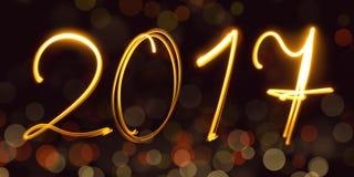Kalender, freezelight, bokeh, 2017 Lizenzfreies Stockfoto